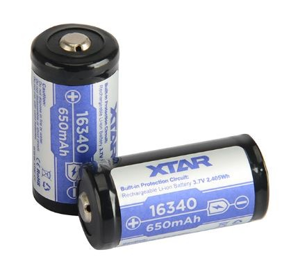 Xtar 16340 Litium Ion batteri 650 mAh
